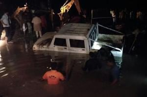 Three killed in Rajasthan as vehicles swept away while crossing...