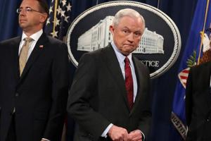 US attorney general Jeff Sessions plans to stay on despite Trump's...