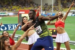 Usain Bolt breaks 10 seconds for first time this season in Monaco...