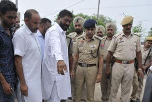 Punjab director general of police (DGP) Suresh Arora visited the crime spot earlier this week.
