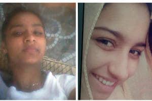 Missing Rupinderjit Kaur (left) and deceased Manpreet Kaur.