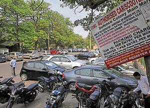 Multilevel parking soon at Defence Colony market