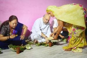 Sushilpura gets last-minute facelift as Amit Shah dines at Dalit home