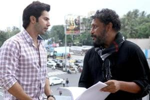Varun Dhawan (left) with film-maker Shoojit Sircar at the latter's office in Juhu.