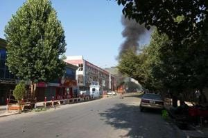 Suicide attacker detonates car bomb in Afghanistan capital Kabul,...