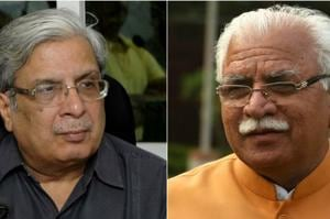 Haryana Governance Reforms Authority chairman Prof Pramod Kumar (left) had written to CM Manohar Lal Khattar about the delay in getting facilities to make the body functional.