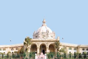 Opposition holds 'mock assembly' in Vidhan Sabha Lucknow