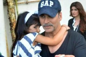 When Akshay Kumar got a flying kick from daughter Nitara. Watch video