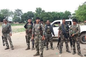 File photograph Jharkhand Police deployment after communal violence at Kasharwani village  in Giridih   earlier in July.