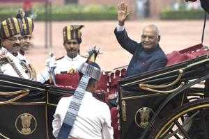 Pomp and tradition come together as new president Ram Nath Kovind...