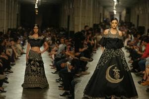 In pics: Disha Patani and royal couture on the runway at Manav...