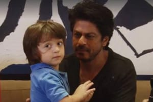 Shah Rukh Khan meets a running AbRam and all's well with the world....