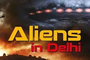 The cover of the book, Aliens in Delhi.