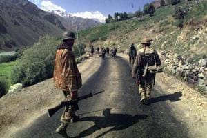 Indian Army soldiers during the Kargil war in 1998.