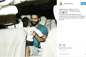 Shahid Kapoor, Mira Rajput cuddle with daughter Misha. See adorable...