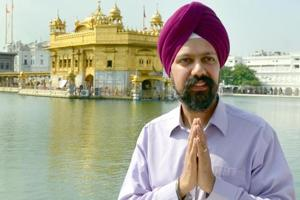 Tanmanjeet Singh Dhesi, the first turbaned Sikh MP in the UK, paying obeisance at Golden Temple in Amritsar on Wednesday, July 25.