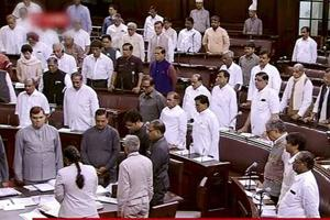 Uproar in Rajya Sabha over President Kovind's speech
