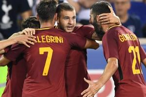 AS Roma snatch late win over Tottenham Hotspur in ill-tempered...