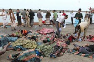 Saudi Arabia led coalition attack on boat near Yemen killed 42...