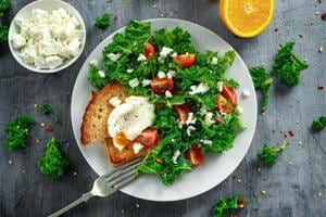 Eat your leafy vegetables and eggs. It may help keep your brain...