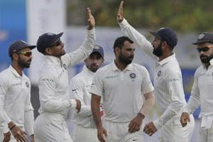 Mohammed Shami's twin strikes, backed by Cheteshwar Pujara's 153, have put India on top against Sri Lanka in the Galle Test. Catch highlights of India vs Sri Lanka, 1st Test, Day 2, here.