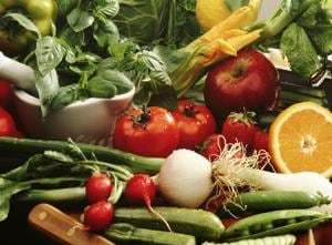 Go organic with fresh  fruits and vegetables