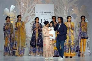 In pics: Rahul Mishra showcases country's craftsmanship at India...