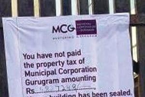 Gurgaon: MCG seals 52 properties of tax defaulters in two days