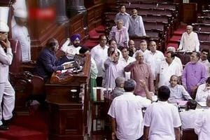 Opposition protests in Rajya Sabha over 'abduction' of Gujarat Cong...