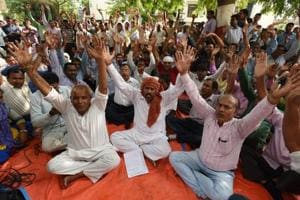 Contractual workers lock gates of four Noida authority offices