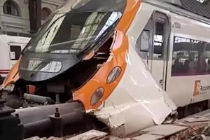 48 injured in commuter train crash in Barcelona station