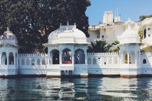 A hotel on Lake Pichola in Udaipur.