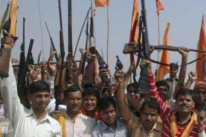 Bajrang Dal, VHP volunteers given arms training in Assam: Congress