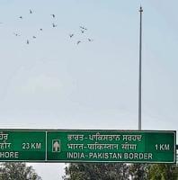 The 360-ft flag pole near the India-Pakistan border at Attari has been damaged three times so far.