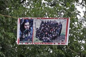 Posters showing Saddam Padder and other Hizbul Militant militants dot the Shopian district.
