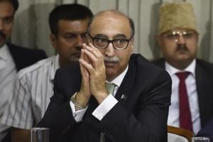 Pakistan high commissioner Abdul Basit during the discussion for improving Indo-Pak Relation