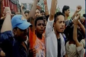 The mob also blocked Ara-Buxar stretch of the National Highway 84, disrupting vehicular traffic for more than three hours.