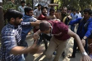 On February 22, violent clashes erupted between the Leftist students' unions and the ABVP members, over a seminar at Ramjas College in which JNU students Umar Khalid and Shehla Rashid were invited.