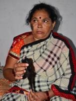 One of the alleged victims in Agra whose hair was chopped off.