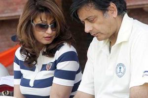 Sunanda Pushkar Tharoor and Shashi Tharoor.