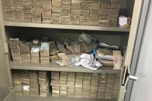 A video from 2016 is being shared on social media sites of from a tax raid at Karnataka energy minister DK Shivakumar's residence.