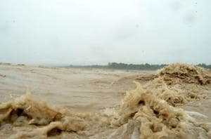 A swollen Ganga in Haridwar has kept the administration on its toes in the district.