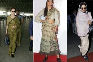 Teaming shoes with saris is not a fashion faux pas anymore.