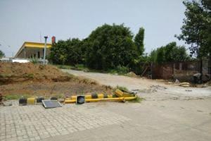 The new driving test facility coming up at Sarai Kale Khan.