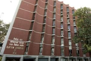 The Election Commission of India building in New Delhi.