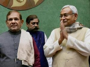 Goodbye time? Sharad and Nitish have been together since Samata Party merged with Janata Dal, in 2003.