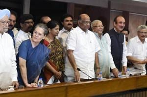 The vacuum in Opposition ranks today is primarily on account of the Congress party's seemingly terminal decline, both at the national and regional levels. Without the Congress in command, the Opposition lacks a cementing factor.