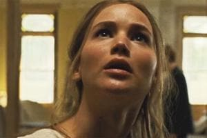 Jennifer Lawrence in a still from Darren Aronofsky's mother!.