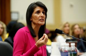 File photo of US ambassador to the United Nations Nikki Haley.