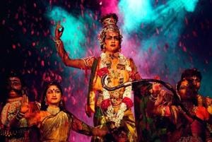 A still from the Krishna Dance Drama that will be performed at Kamani Auditorium in Mandi House.